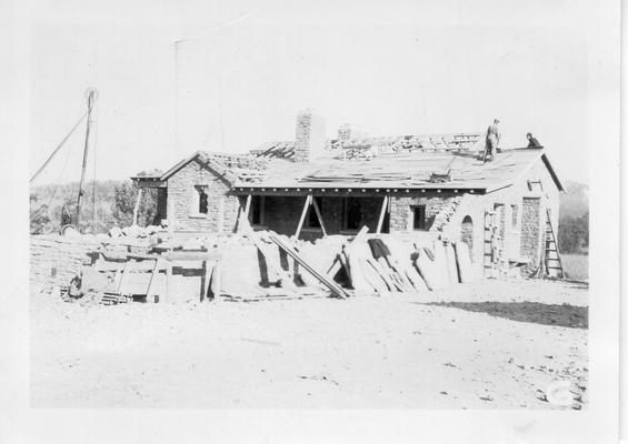 Construction of caretaker's house at Dr. Thomas Walker State Park