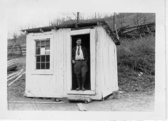 Mr. Hale, Librarian at Norris Packhorse Library, 1941