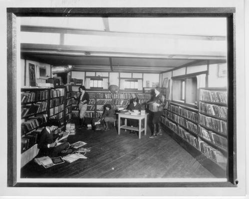 Interior of WPA Library in Hyden, KY