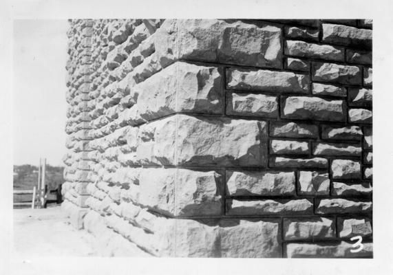 Stone work on Whitley City School