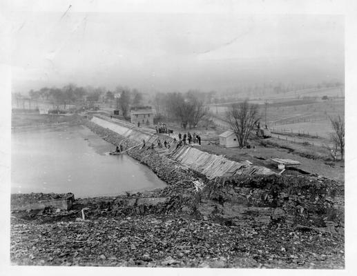 Dam construction for Richmond Water Works