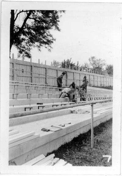 Mount Sterling High School Stadium under construction