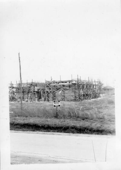 Clay City School under construction