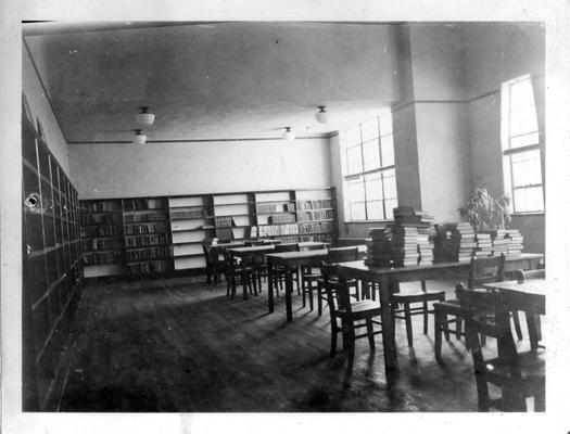 Interior of library at Smith Grove High School