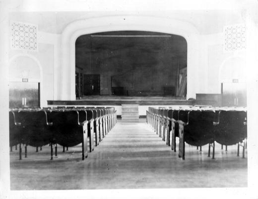 Auditorium of Smith Grove High School. View taken from rear of hall