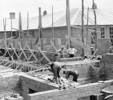 Project #1950 District 4: WPA Project #1950 provides for the construction of a gymnasium-auditorium building and the completion of the junior high school building at New Bethel, KY. Photograph was taken June 3, 1936