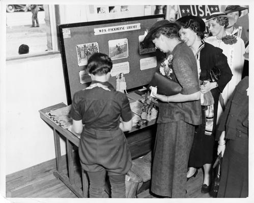 Eleanor Roosevelt visiting the Packhorse Library in West Liberty, KY, May 24, 1937