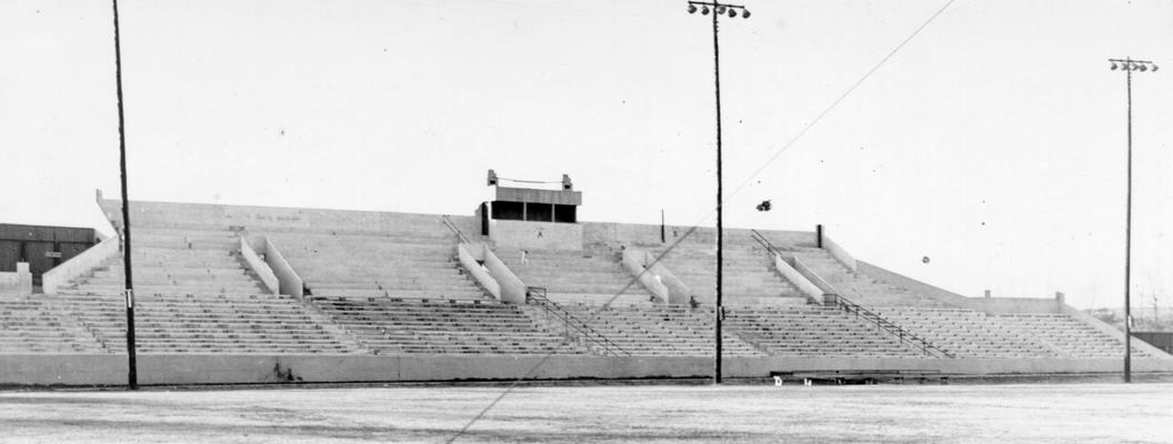 Project #1627 District 1: Improvements to the Murray State Teachers College Stadium in Murray, KY, were provided by Project #1627, completed March 13, 1936. This stadium was practically completed under K.E.R.A. View photographed December 21, 1936