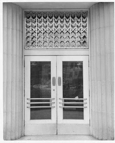 Unidentified doorway to a large building