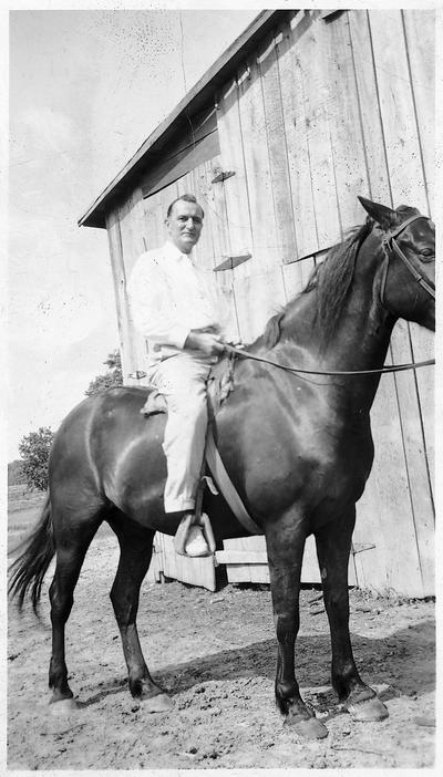 Man astride a horse