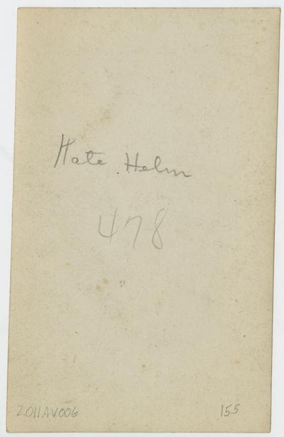 Katherine Helm,                                  Kentucky Kate (verso)