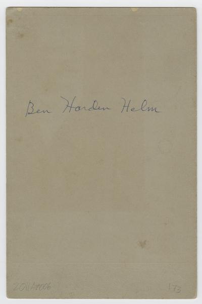 Benjamin Hardin Helm, Jr