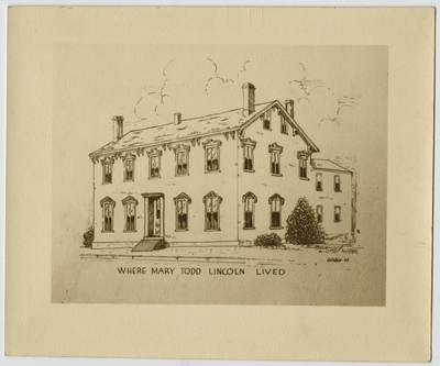 Sketch of Mary Todd Lincoln House