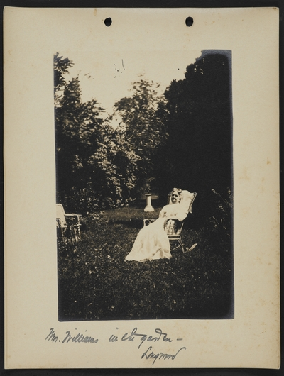 Mrs. Williams in the garden- Longwood