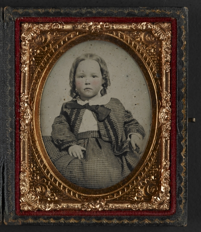 Katherine and Elodie Helm (double rubyglass ambrotype)