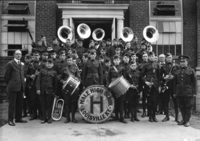4-H winners, Male High School Band,  Louisville, Kentucky first place award