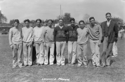 High School track teams, Louisville Manual High School, second in tournament