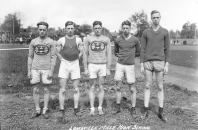 High school track team, Louisville Male High School, winner of 1921 interscholastic track meet