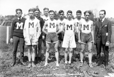 High school track team, Louisville Manual High School