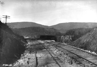 Stretch of track, inspection trip, railroad bridge