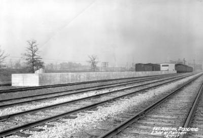 Freight station, Bessemer, Alabama, east side of platform