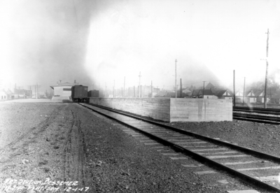 Freight station, Bessemer, Alabama, west side of platform