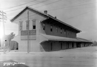 Lexington, Queen and Crescent freight station