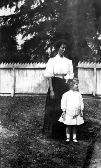 Little girl and African-American woman