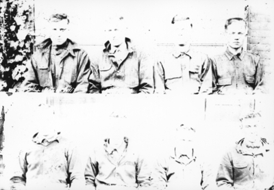 Third camp, World War I, eight individuals per print