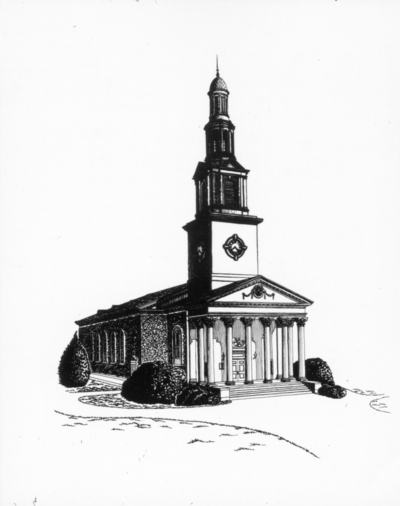 Drawing of Memorial Hall