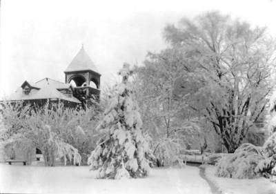 Mechanical Hall (the original Anderson Hall) in winter