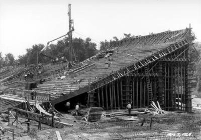 Stadium construction, bleachers