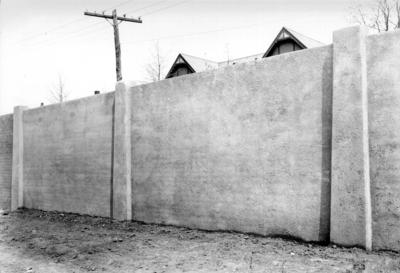 Stadium construction, wall