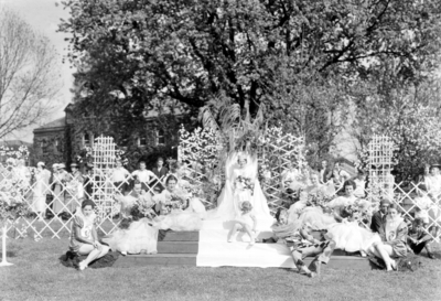 May Queen and court, May Day