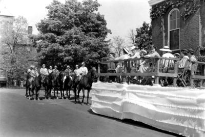 Women on horseback, May Day
