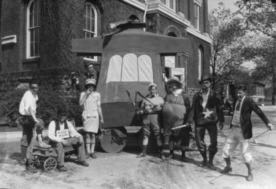 May Day parade float