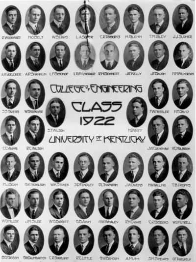 College of engineering class of 1922