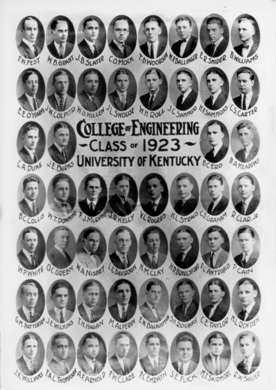College of engineering class of 1923