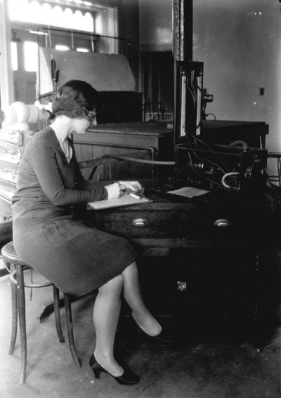 Woman student in laboratory
