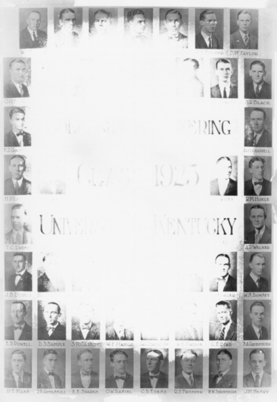 College of engineering class of 1925