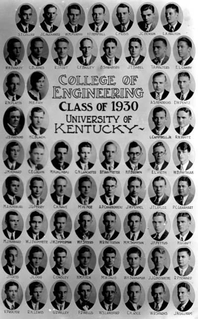 College of engineering class of 1930