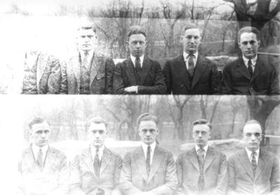 Class of 1922 (broken into groups of 5-10)