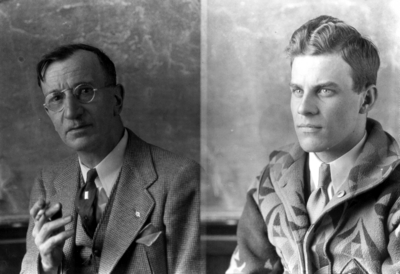 Nollau and one student, class of 1936