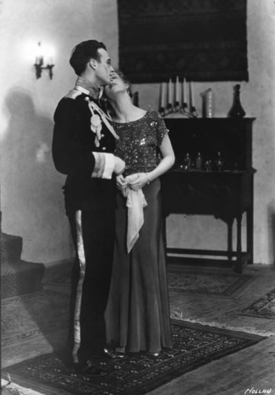 Actor and actress performing in