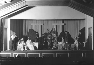 Actors performing in