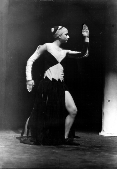 Actress performing in