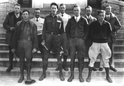 Sigma Gamma Sigma, 1928 Kentuckian, p.129. Geology group in front of Miller Hall
