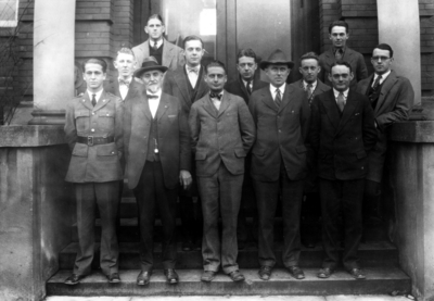 Norwood Mining Society, including Dean C.J. Norwood, second from left, front row,  1927 Kentuckian p. 138