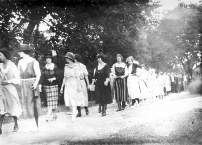 Students in procession