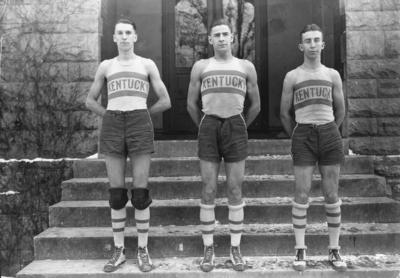 Three members of Kentucky men's basketball team, 1920-1921 season, see 1921 Kentuckian